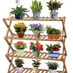 Display Stands 2 Tiers Bamboo Flower Pot Stand Plant Display Shelf Rack Garden Indoor Outdoor Home Furniture Diy Simaytemizlik Com Tr