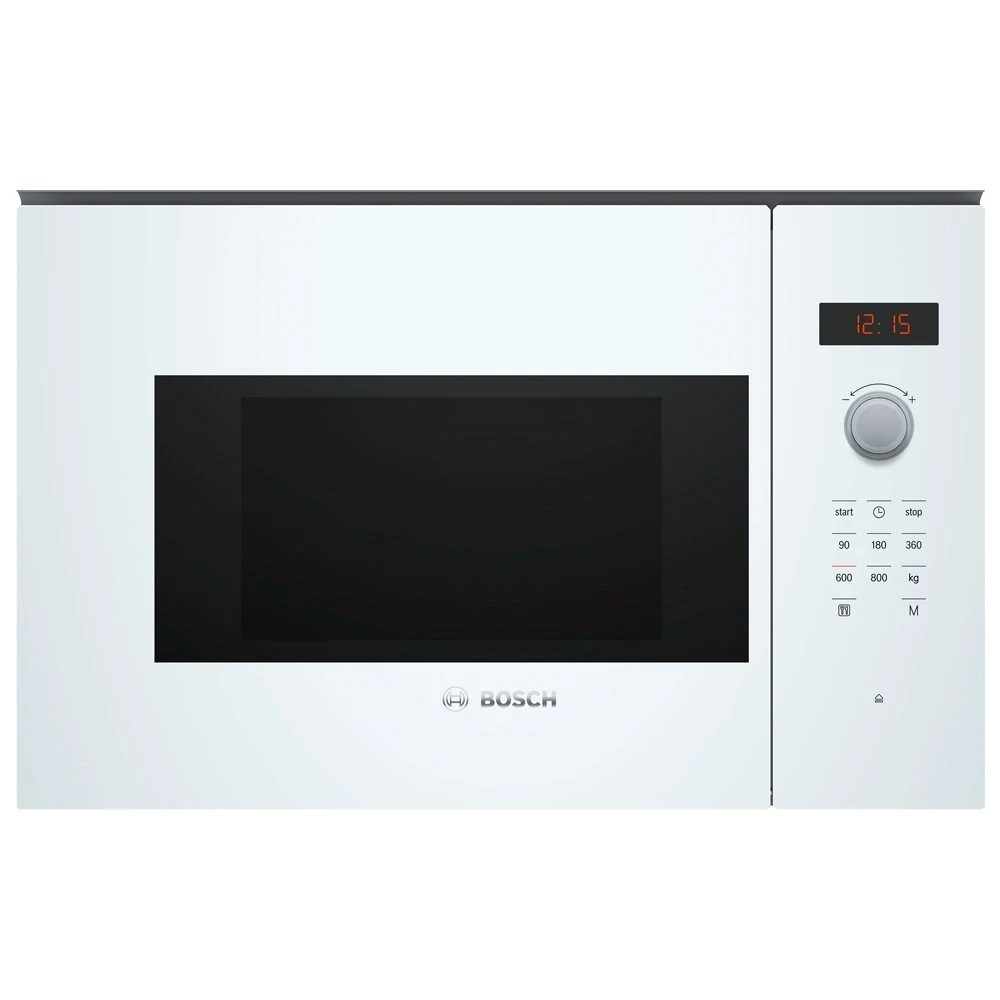 bosch bfl523mw0b serie 4 built in microwave for wall unit white appliance city