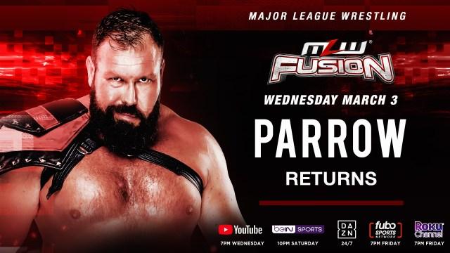 Parrow returns tomorrow on FUSION