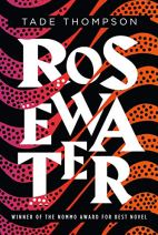 Rosewater by Tade Thompson cover for African SFF list (sci-fi book)
