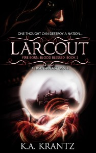 Larcout by KA Krantz (epic fantasy) cover for SPFBO Finalist Sale