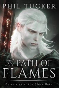 The Path of Flames by Phil Tucker (epic fantasy) cover for SPFBO finalist sale