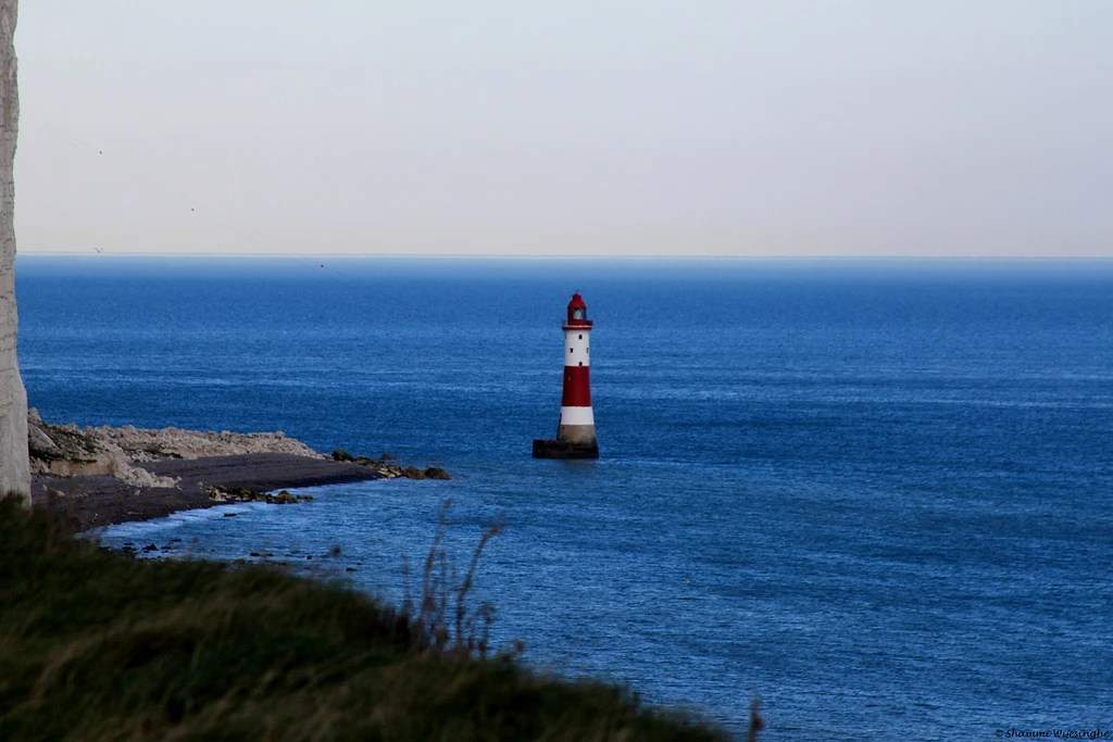 Lighthouse at the base of Beachy Head