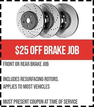 25 off brake job