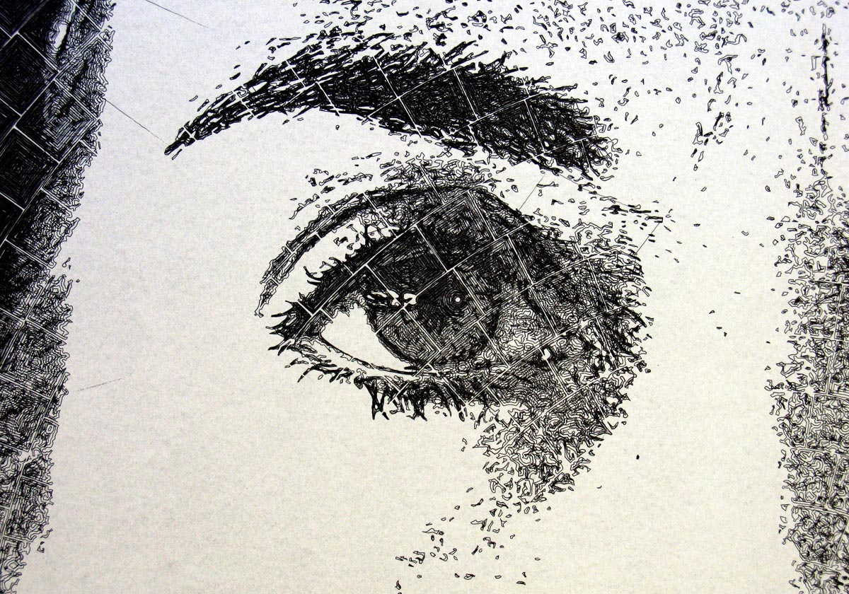 Linda 77 46 Inch Pen And Ink Drawing In Spiral