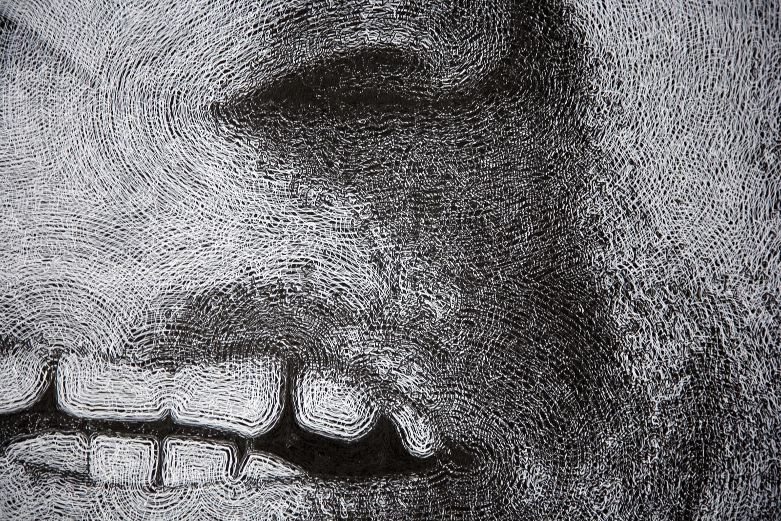 pen and ink drawing of Miguel Rivera