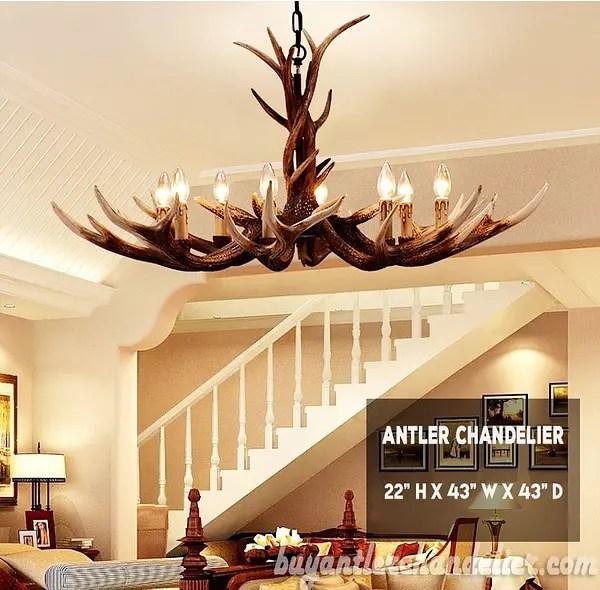 deluxe 8 cast elk antler chandelier