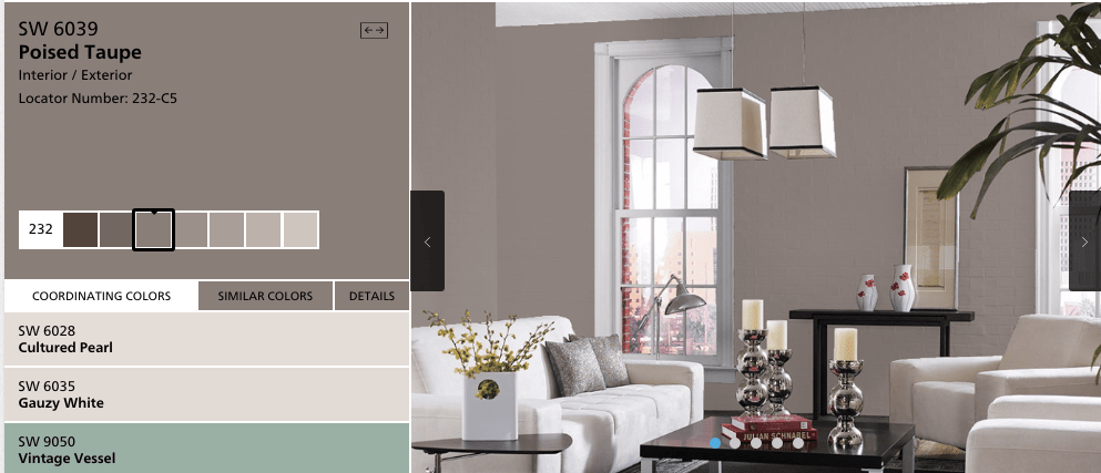 SherwinWilliams Selects Poised Taupe SW 6039 as 2017