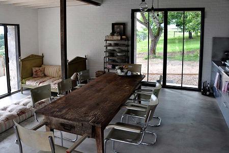 Casa de campo de estilo industrial  Decoracin