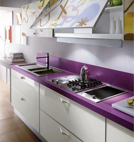 Cocinas color violeta  Decoracin