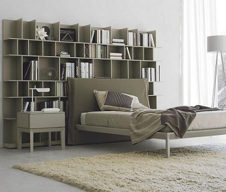 Ideas decoracin dormitorio cabecero librera  Decoracin