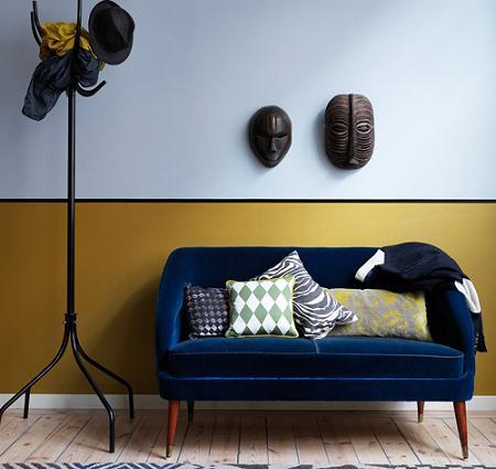 Combinar colores en las paredes  Decoracin