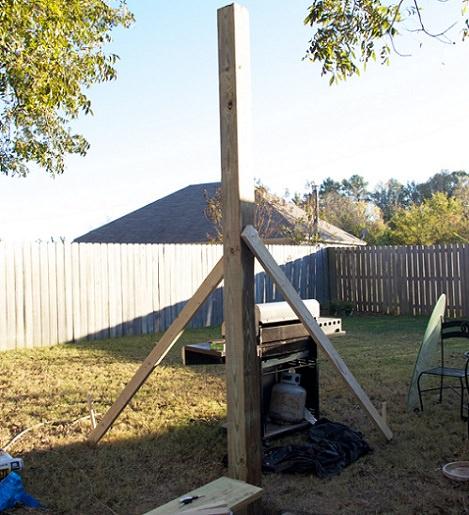 Como hacer una pergola casera fabulous porche de madera - Como construir una pergola de madera ...