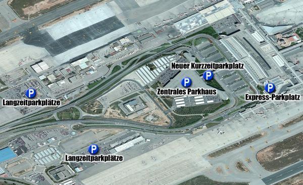 neue parkplatze am flughafen von mallorca