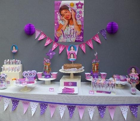 Ideas caseras para decorar una fiesta de Violetta