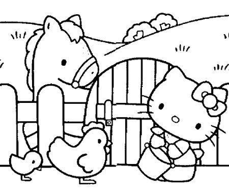 Dibujos para pintar Hello Kitty