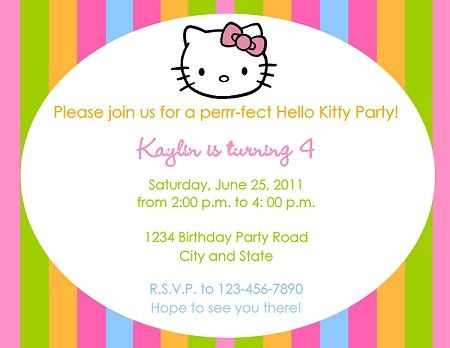 Invitaciones De Hello Kitty – Hello Kitty En MundoKitty Com