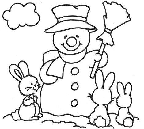 Para Colorear De Muecos De Nieve Dibujos De Muecos De