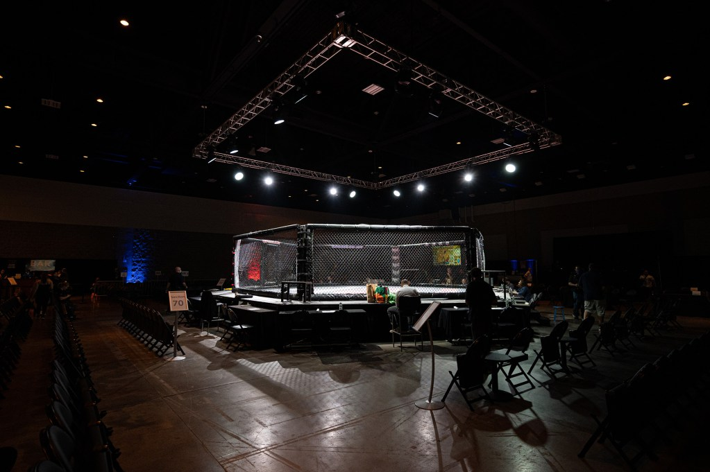 A photo of the CES cage.