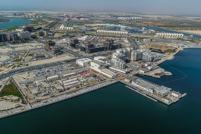 Aerial View of South of Yas Island