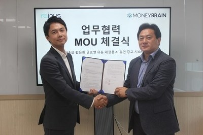 Left: Jang Se-young (CEO of Moneybrain) Right: Hyun Hak Kim (CEO of Rainus)