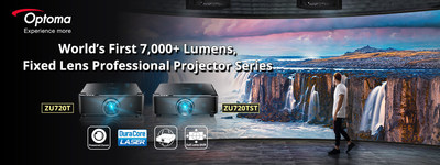 World's First 7000+ Lumens, Fixed Lens Professional Laser Projectors, Optoma ZU720T & ZU720TST now available in Australia