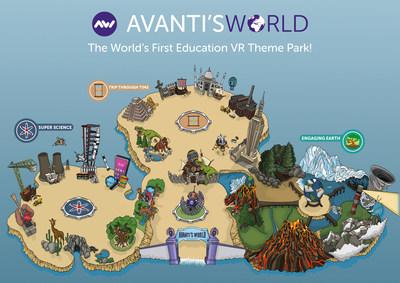 Avanti's World Theme Park Map
