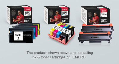 Top-selling ink & toner cartridges of LEMERO.