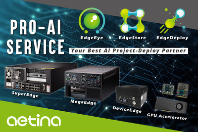 Aetina delivers Pro-AI service by providing hardware and software solution at Edge AI environments. Fasten the evaluation of AI projects.