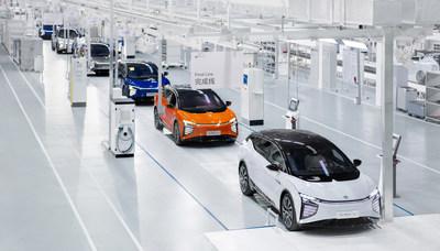 高合HiPhi X總裝車間是5G環境下高柔性、高科技的實驗室車間