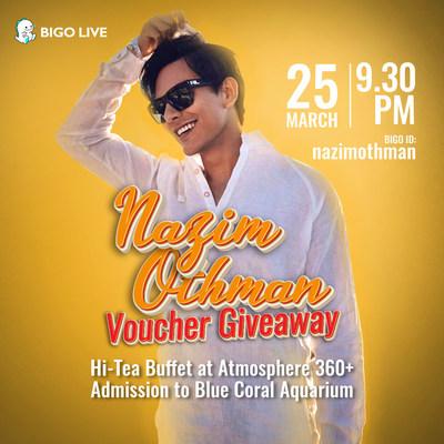 'Dejavu di Kinabalu' Fame, Malaysian Actor-Singer Nazim Othman Hosts Two-Night Only Interactive Livestream on Bigo Live