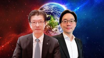 台灣三菱電機花岡尚夫董事長(左),大眾全球投資控股簡民智總經理(右)。