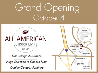 all american outdoor living stylish patio furniture grand opening the shops at norterra