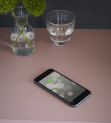 Intentek Wireless Charging Surface is a new Formica® Laminate surface with integrated charging coils that can wirelessly charge Qi Certified devices simply by placing them on it.