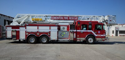 Edmonton Fire and Rescue's new Spartan Emergency Response 100' Rear Mount Smeal Platform.