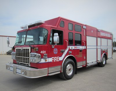 One of six new Smeal Custom Pumpers Edmonton Fire and Rescue has ordered from Spartan Emergency Response.