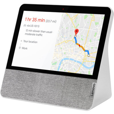 "Enjoy all the functionality of the Google Assistant and a 7"" touchscreen with the blizzard white Lenovo 7"" Smart Display."