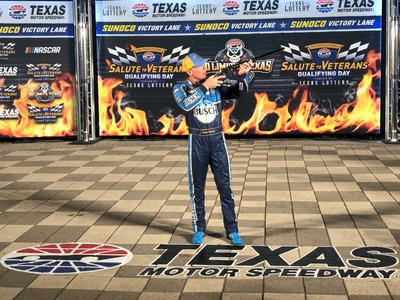 NASCAR Cup Series driver, Kevin Harvick was awarded with a Henry Texas Tribute Edition rifle for his pole qualifying win at Texas Motor Speedway on November 2, 2019.