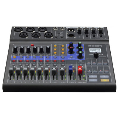 Zoom LiveTrak L-8 Portable 8-Channel Digital Mixer and Multitrack Recorder