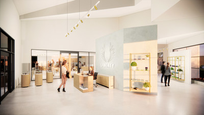 Rendering of Holistic Industries retail flagship at 29600 Stephenson Highway
