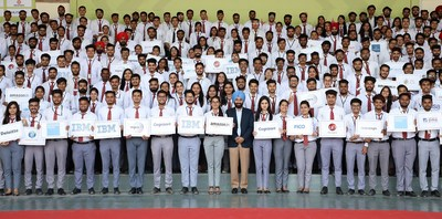 Placed Students of Batch 2020 of Chandigarh University in a jubilant mood after getting offer letters from Multinational Companies during first phase of Campus Placements