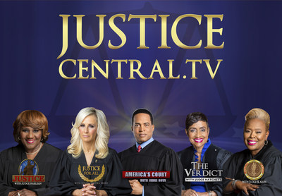 Entertainment Studios Court Series (L-R): Justice with Judge Mablean, Justice for All with Judge Cristina Perez, America's Court with Judge Ross, The Verdict with Judge Hatchett, and Supreme Justice with Judge Karen