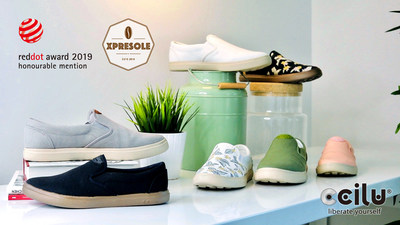 """XpreSole-CCILU footwear found a way to mix and melt spent coffee grounds into a special compound that is ideal for shoe soles and tops, and it's Dirt Proof, Water Repellent, Odor Control, Ultralight...and so much more, Actually, it smells like Coffee!! CCILU recycle the spent coffee grounds from the coffee shops and remake the SCGs to be high-quality footwear material: """"XpreSole"""". CCILU then use the XpreSole material to be the key elements of each major footwear component (upper, insole, outsole)."""