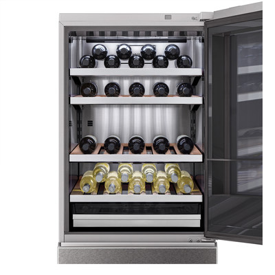 The unit holds up to 65 bottles and also includes a draw to preserve both food and wine