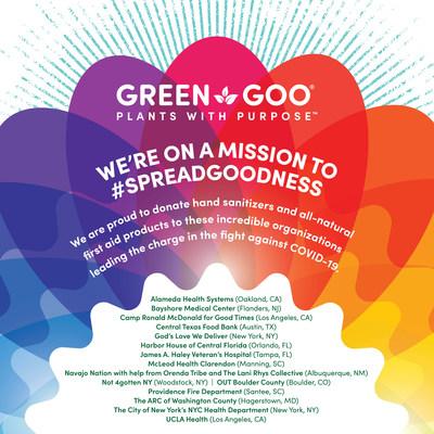 Green Goo Hand Sanitizer Donations Image