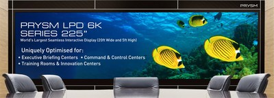 Prysm launches World's Largest Seamless Interactive & Energy-Efficient Display