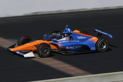 PNC Bank Car features the new Racing Optics Tearoffs on The New Aeroscreen