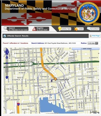 Search for registered sex offenders in your area in the state of Maryland with new technology from OffenderWatch. Search for offenders on the Maryland Dept. of Public Safety and Correctional Services website.
