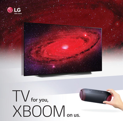 LG Electronics USA announced a limited-time promotion offering consumers a free LG XBOOM Go speaker (model PL5) with the purchase of eligible 2020 LG OLED and LG NanoCell TVs.