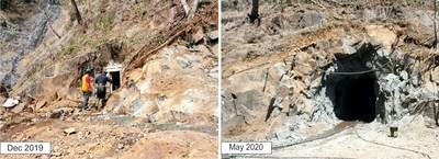 Figure 5: San Marcial Tunnel - Underground Development in 2020 (CNW Group/GR Silver Mining Ltd.)